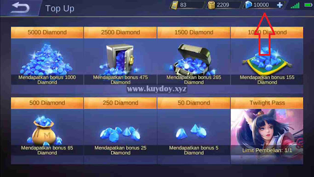 Script 10.000 Diamond Gratis Mobile Legends Patch Terbaru