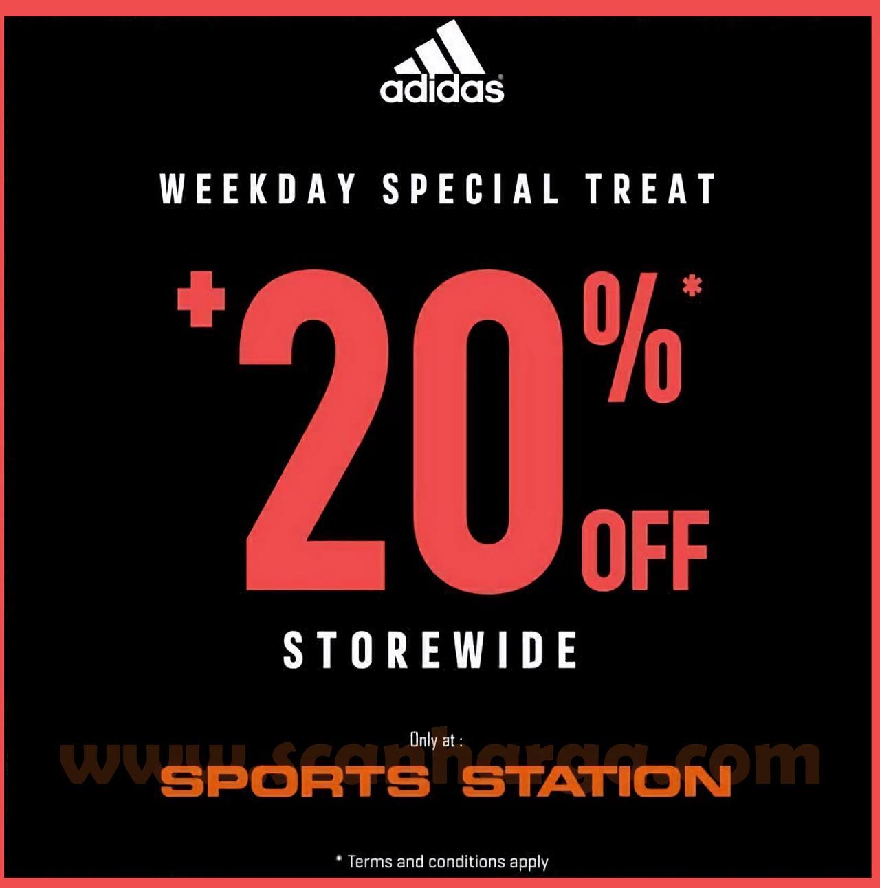 Sports Station Weekday Special Treat Promo khusus pembelian Sepatu Adidas