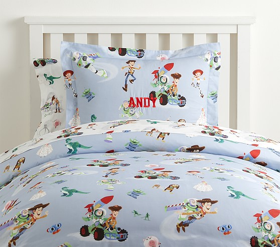 Toy Story duvet and sheet sets from Pottery Barn Kids