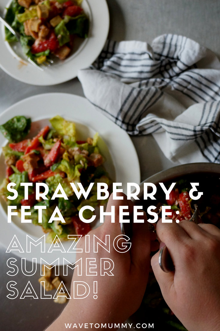 Strawberry and feta cheese salad. A perfect summer salad combination: feta and strawberries! Read this easy recipe for best tips on how to make this sweet and tangy salad.
