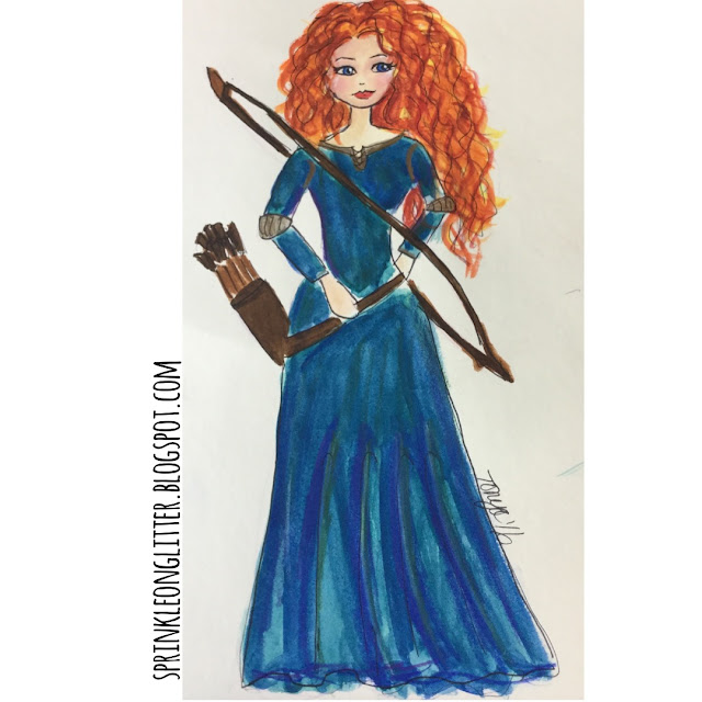 Sprinkle on glitter blog//31 days of disney//merida