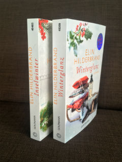 """dwie części świątecznej serii, """"Winterglanz"""" i """"Inselwinter"""" Elin Hilderbrand, fot. paratexterka ©"""