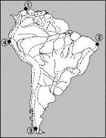 Карта на Южна Америка