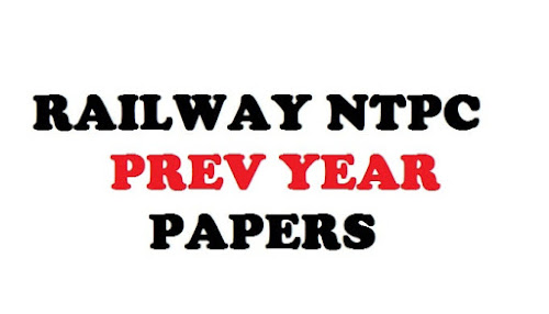 RRb Ntpc Prev year Papers
