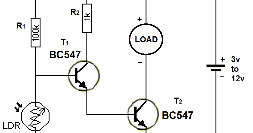 ldr circuits projects 23