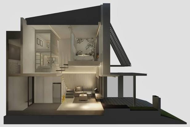 jual rumah full furnished di bsd