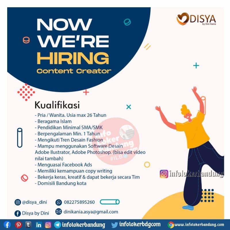 Lowongan Kerja Disya by Dini Bandung September 2021