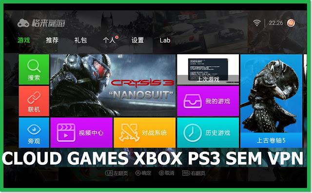 CLOUD GAMES XBOX 360 PS3 SEM PRECISAR DE VPN APK