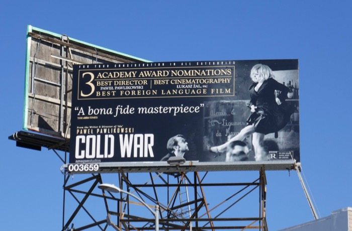 Cold War Academy Award billboard