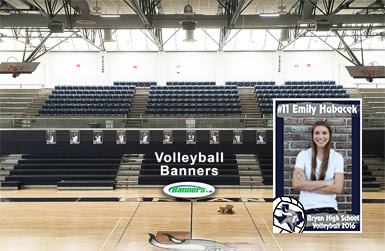 Volleyball Player Banners | Banners.com