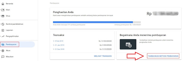 Cara Menambah Dan Verifikasi Rekening Bank Ke Google Adsense