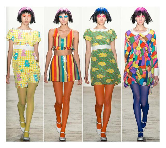 Цветные колготки Jeremy Scott