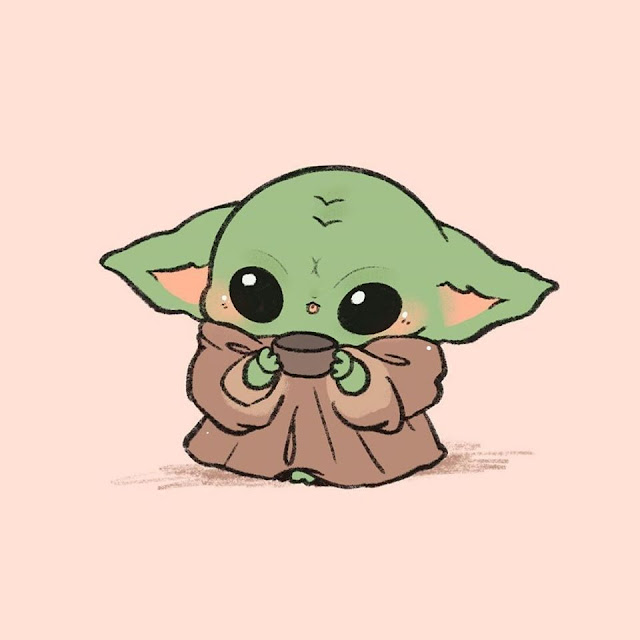 baby yoda cartoon