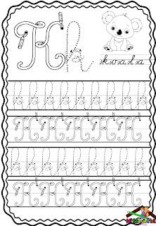 plantillas de letra cursiva para imprimir