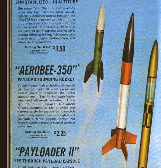 model rocket building model profile centuri aerobee 350