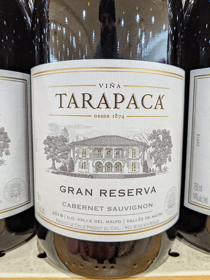 Viña Tarapacá Gran Reserva Cabernet Sauvignon 2018 (90 pts)