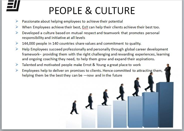 Principles of Organization Management: Ernst & Young