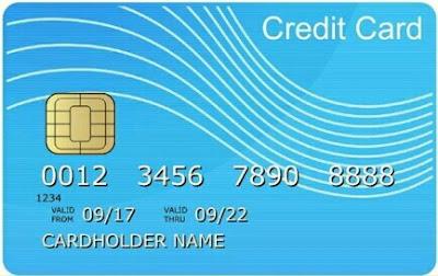 kartu kredit tampak depan