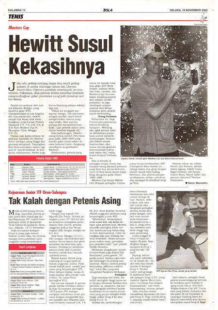 MASTER CUP 2002 HEWITT SUSUL KEKASIHNYA