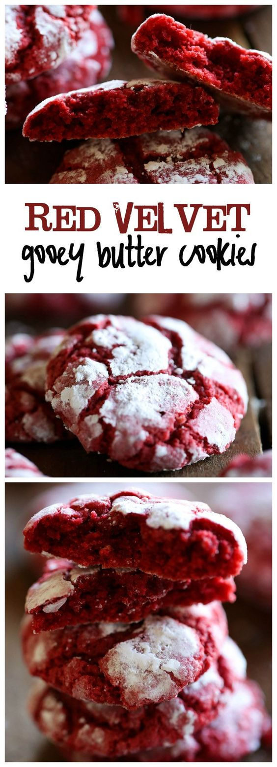 Delicious Gooey Red Velvet Butter Cookies #delicious #gooey #red #velvet #butter #cookies #cookierecipes