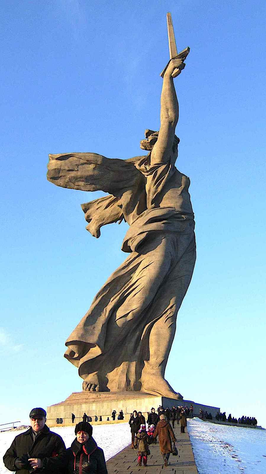 a WW2 memorial monument in Russia, The Motherland Calls