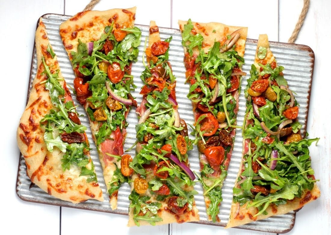 Salad Pizza | Photo Courtesy of Sheri Silver