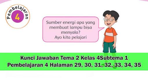 kunci jawaban tema 2 kelas 4