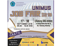 UNIMUS Job Fair 2019 Tanggal 17-18 September 2019 di Universitas Muhammadiyah Semarang (HTM GRATISS...)