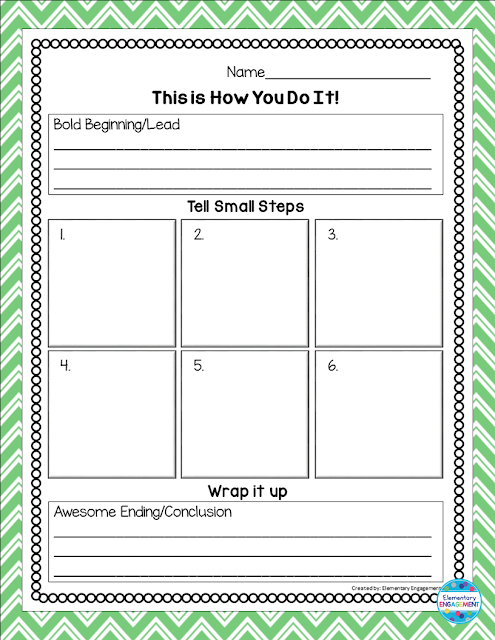 This post has a free graphic organizer for How to writing.