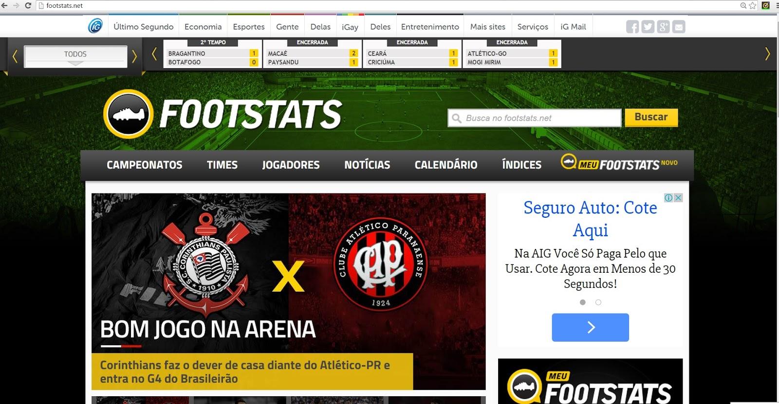 33067a0ce6 Bola Pensante  Footstats  site especializado em estatísticas do futebol