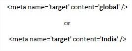Meta Target Tag