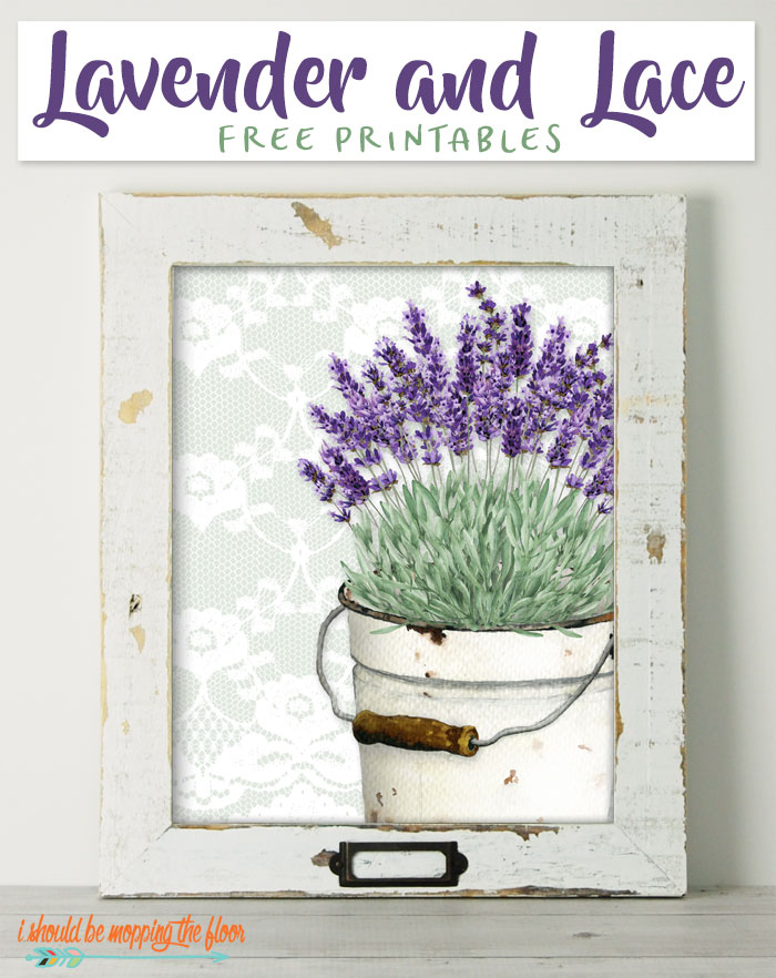 Lavender and Lace Printables