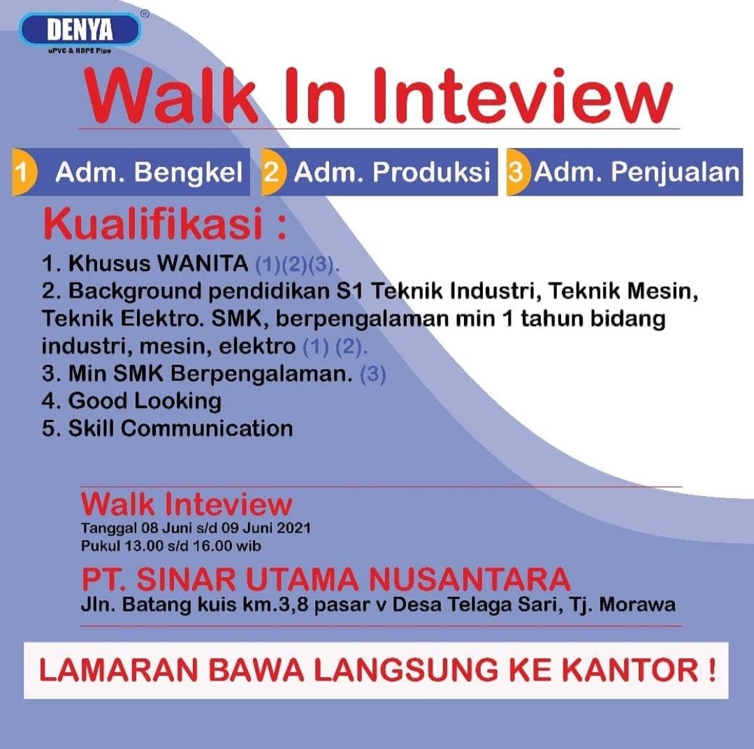 Lowongan Kerja Smk S1 Di Pt Denya Indonesia Medan Juni 2021 Lowongan Kerja Medan Terbaru Tahun 2021