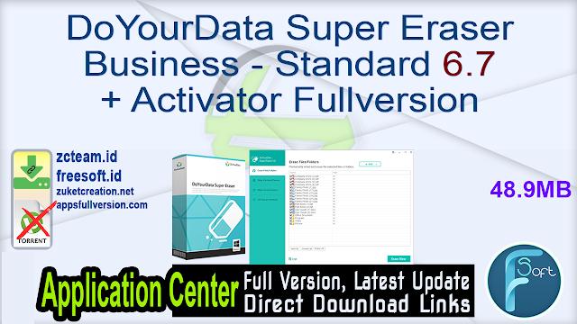 DoYourData Super Eraser Business – Standard 6.7 + Activator Fullversion