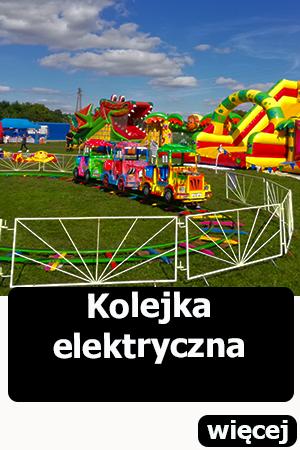 Kolejka elektryczna, dmuchańce Wrocław, atrakcje dla dzieci,