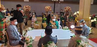"""Di Pernikahan Putri Mantan Ketua DPRD Barru, Suardi Saleh Komandoi Hadirin Sebut """"Sah"""""""