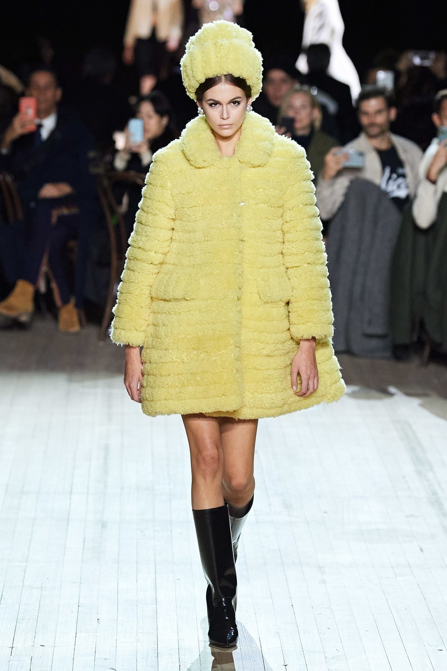 Kaia Gerber walking for Marc Jacobs FW20 fashion show during NYFW