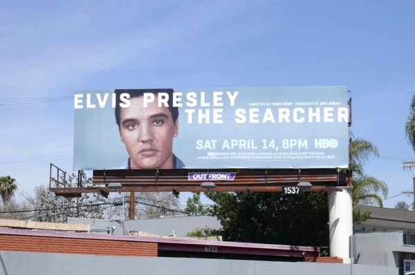 Elvis Presley Searcher documentary billboard