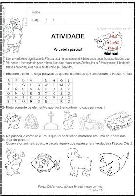 Páscoa - Atividade Bíblica Infantil