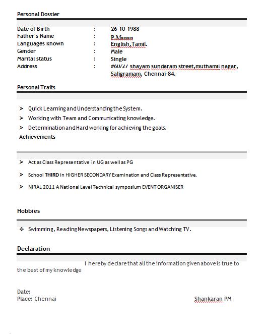 resume for teacher job fresher resume format teachers freshers