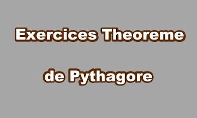 Exercice Theoreme de Pythagore - exercours