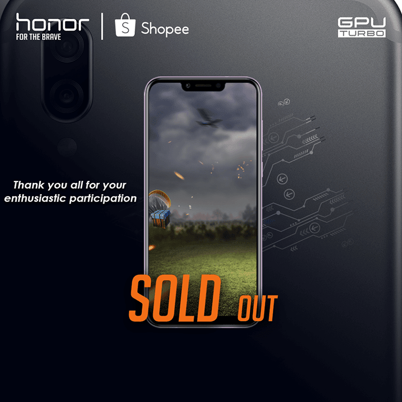 Honor Play sold out at Shopee and Lazada Philippines