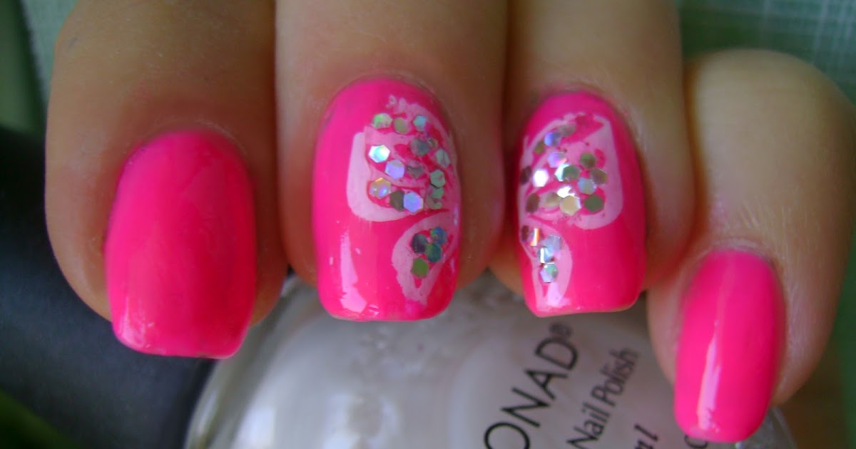 Acrylic Nail Art Designs Go Pink Wednesday Butterfly Wings