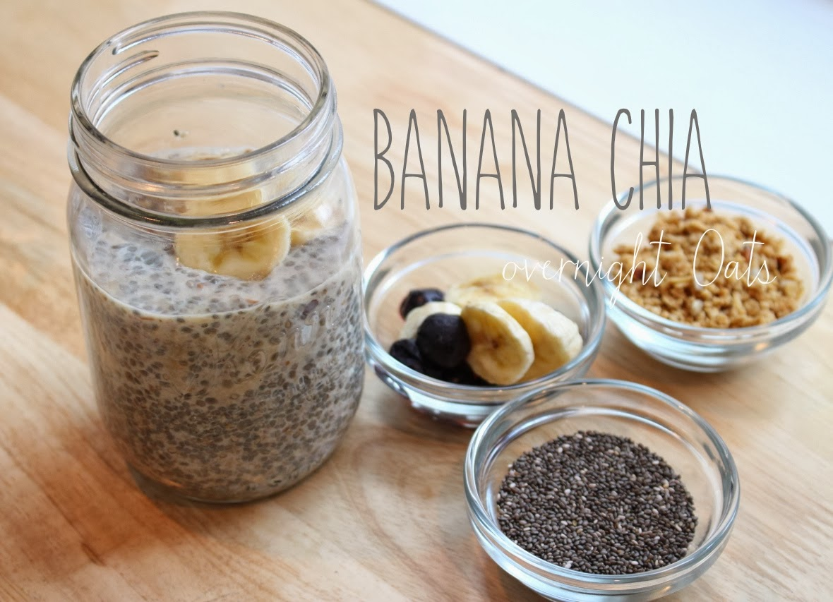 carob banana chia vegan overnight oats recipe dishmaps. Black Bedroom Furniture Sets. Home Design Ideas