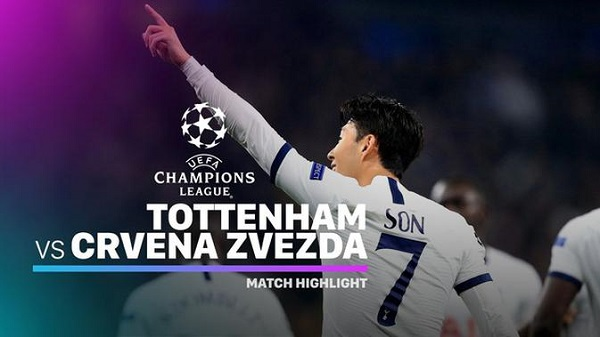 Cuplikan Gol Liga Champions Tottenham Hotspur vs Crvena Zvezda 5-0