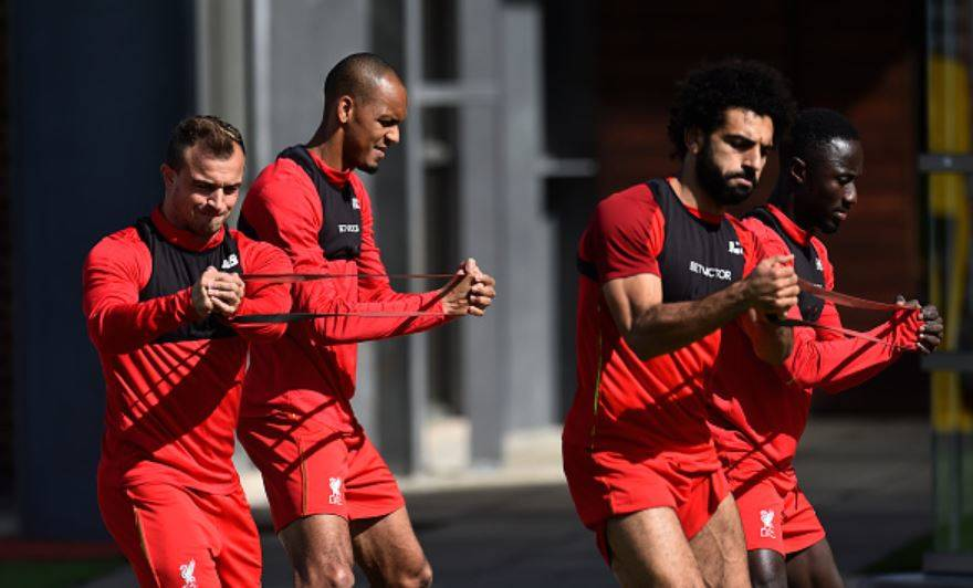 Shaqiri-Salah-Fabinho-and-Keita-in-training
