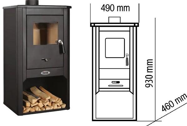 Камина на дърва, брикети и дървени въглища Ferroli Padova F, Фероли Падова