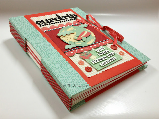 album caderno costura longstitch scrapbook