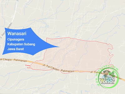 PETA :  Desa Wanasari, Kecamatan Cipunagara