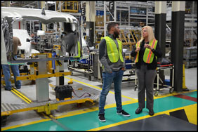 Darrell 'Bubba' Wallace tours the Mack Lehigh Valley Operations